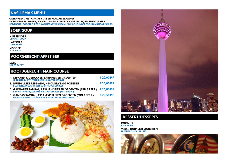 Kuala Lupur Nasi Lemak menu