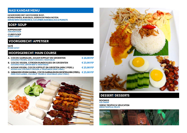 Kuala Lumpur Nasi Kandar menu